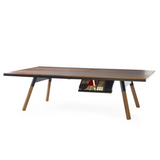 You and Me Tournament Size Table Tennis in Walnut & Black