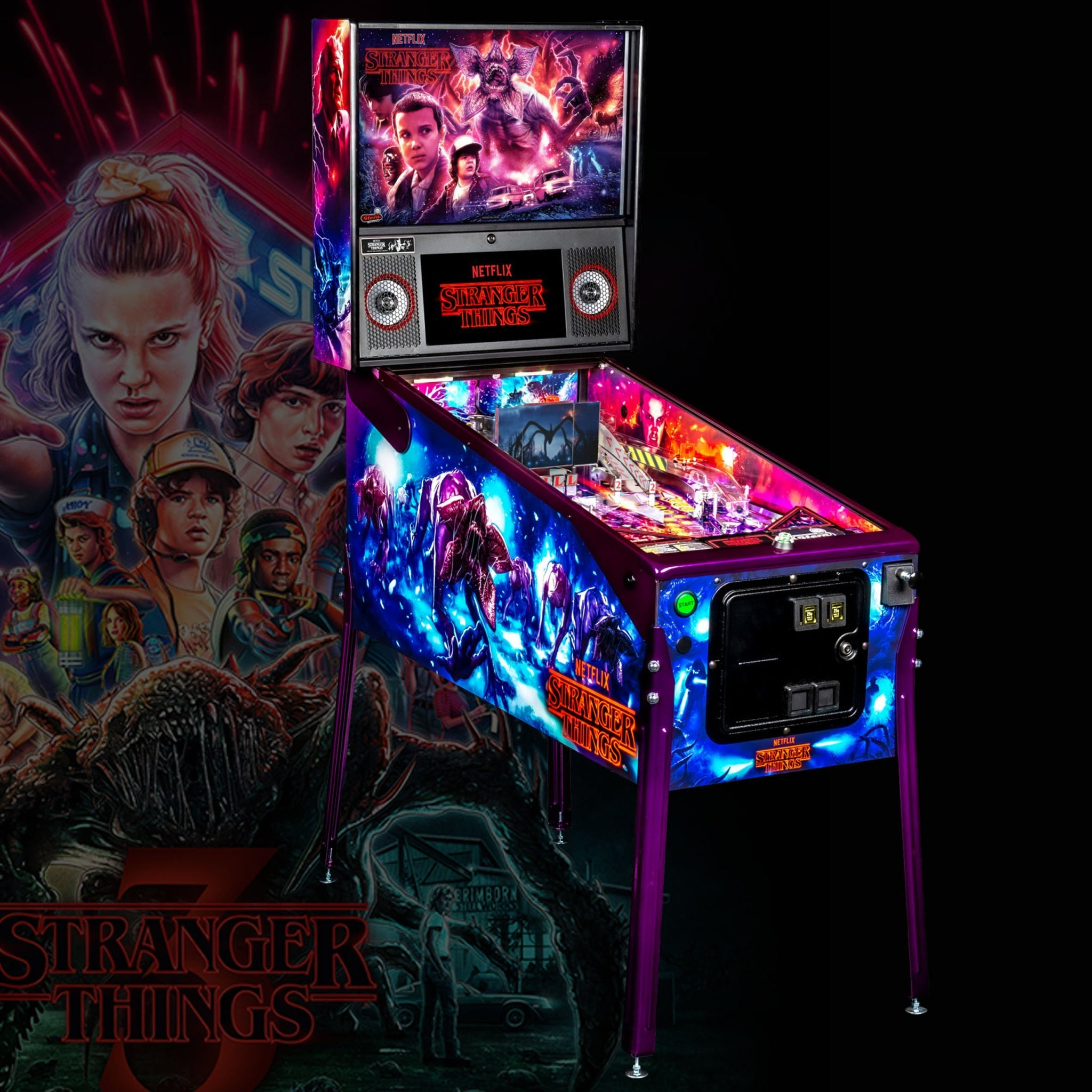 Stranger Things Limited Edition Pinball Machine by Stern