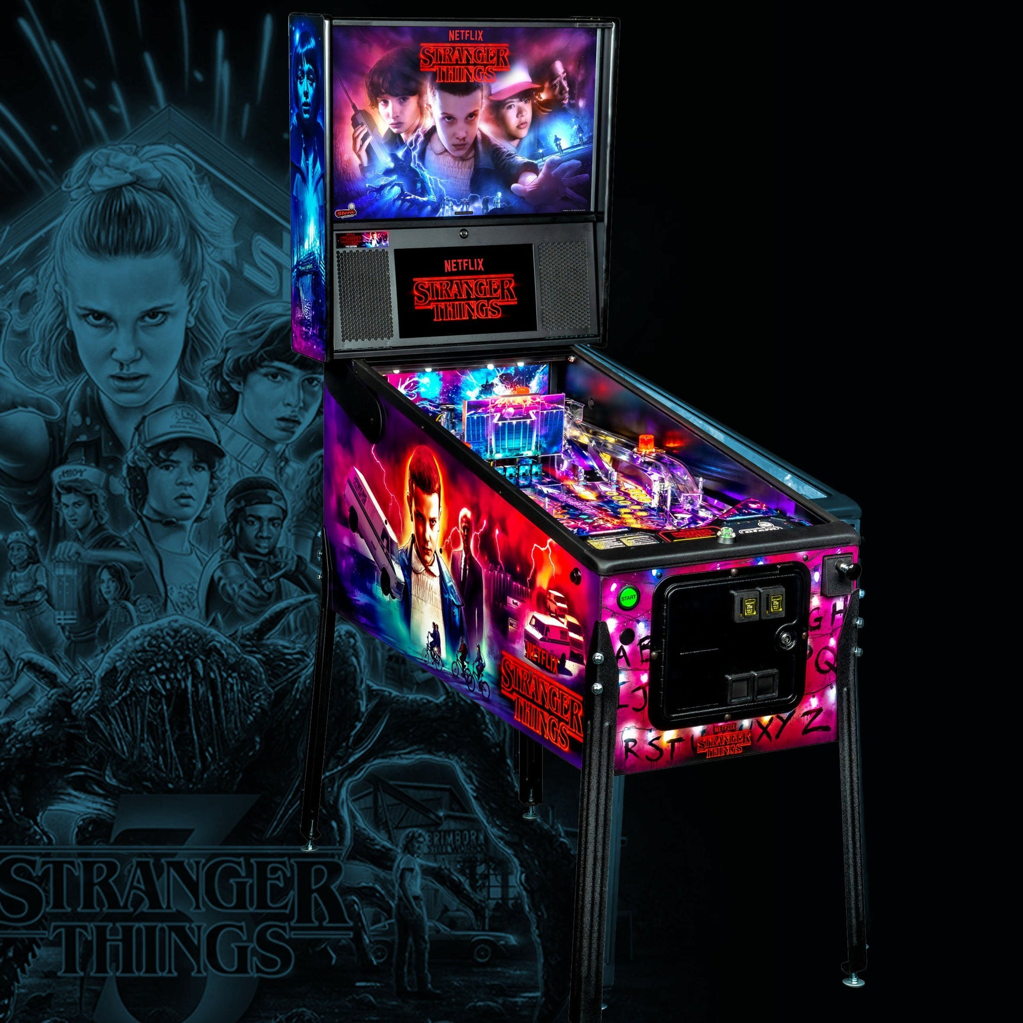 Stranger Things Pro Pinball Machine by Stern