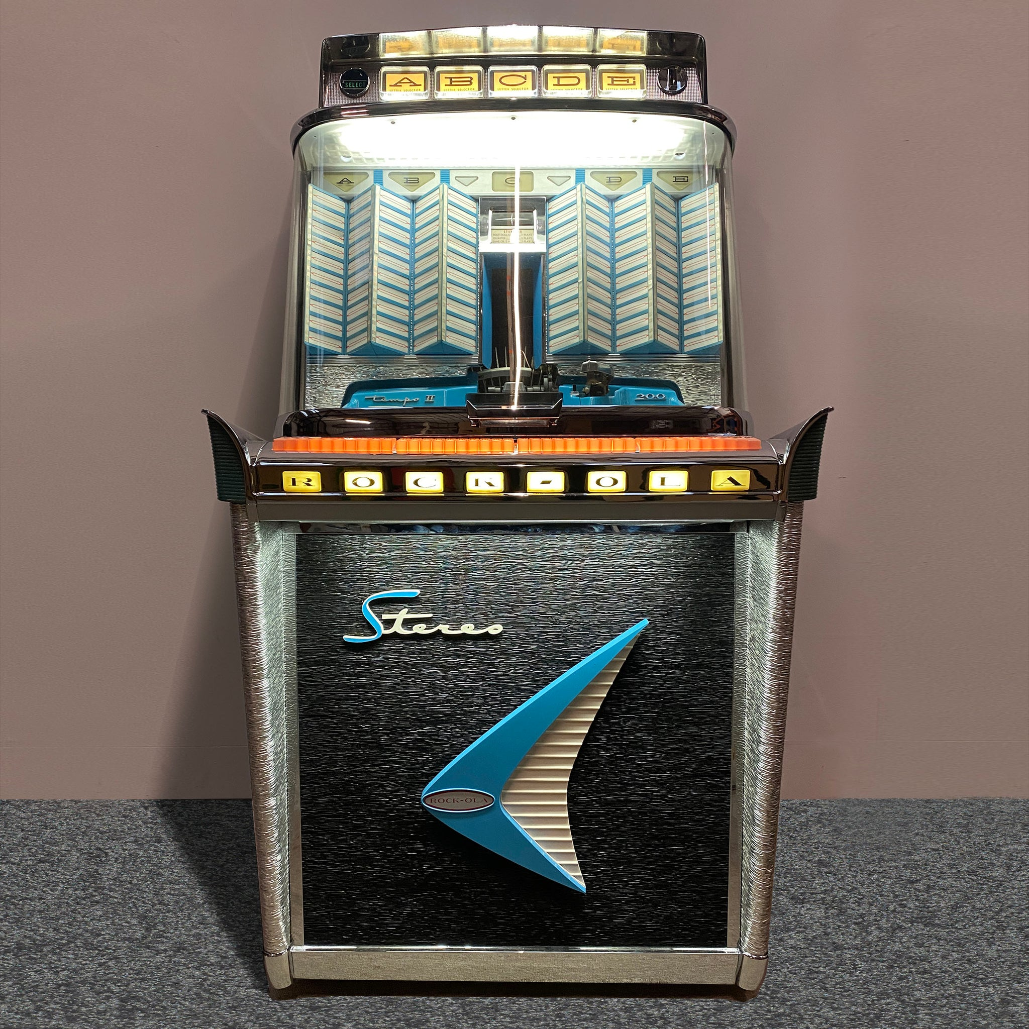 Original 1960 Rock-Ola Tempo II 1485 Jukebox 'Coming Soon'