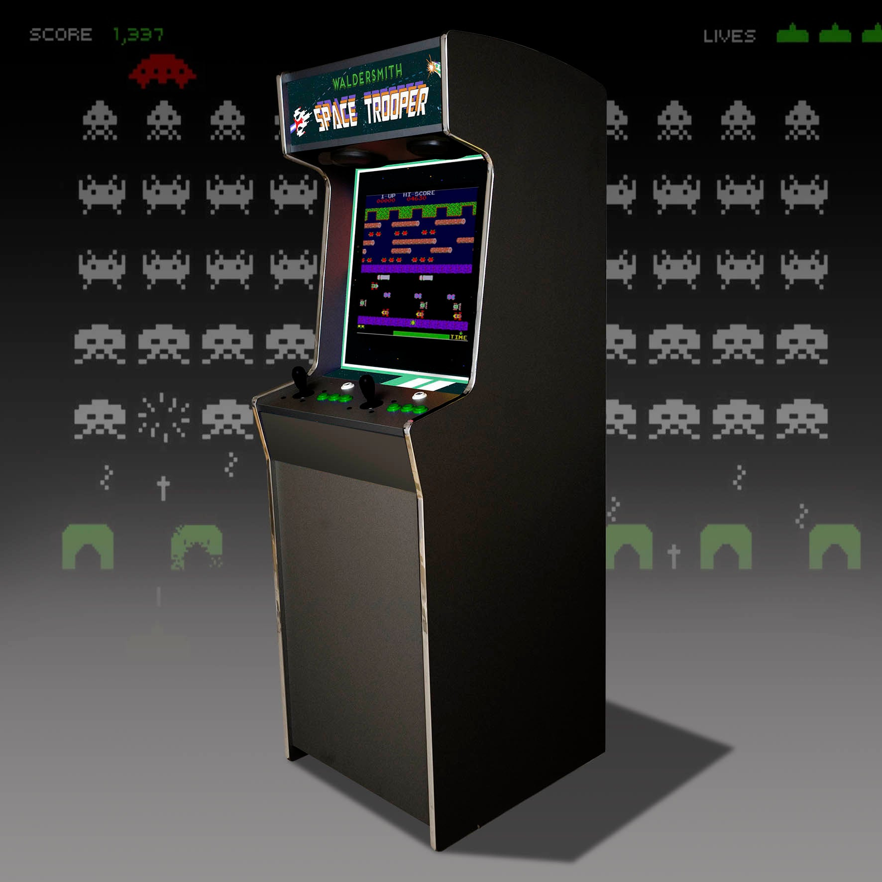 Waldersmith Space Trooper Arcade Machine
