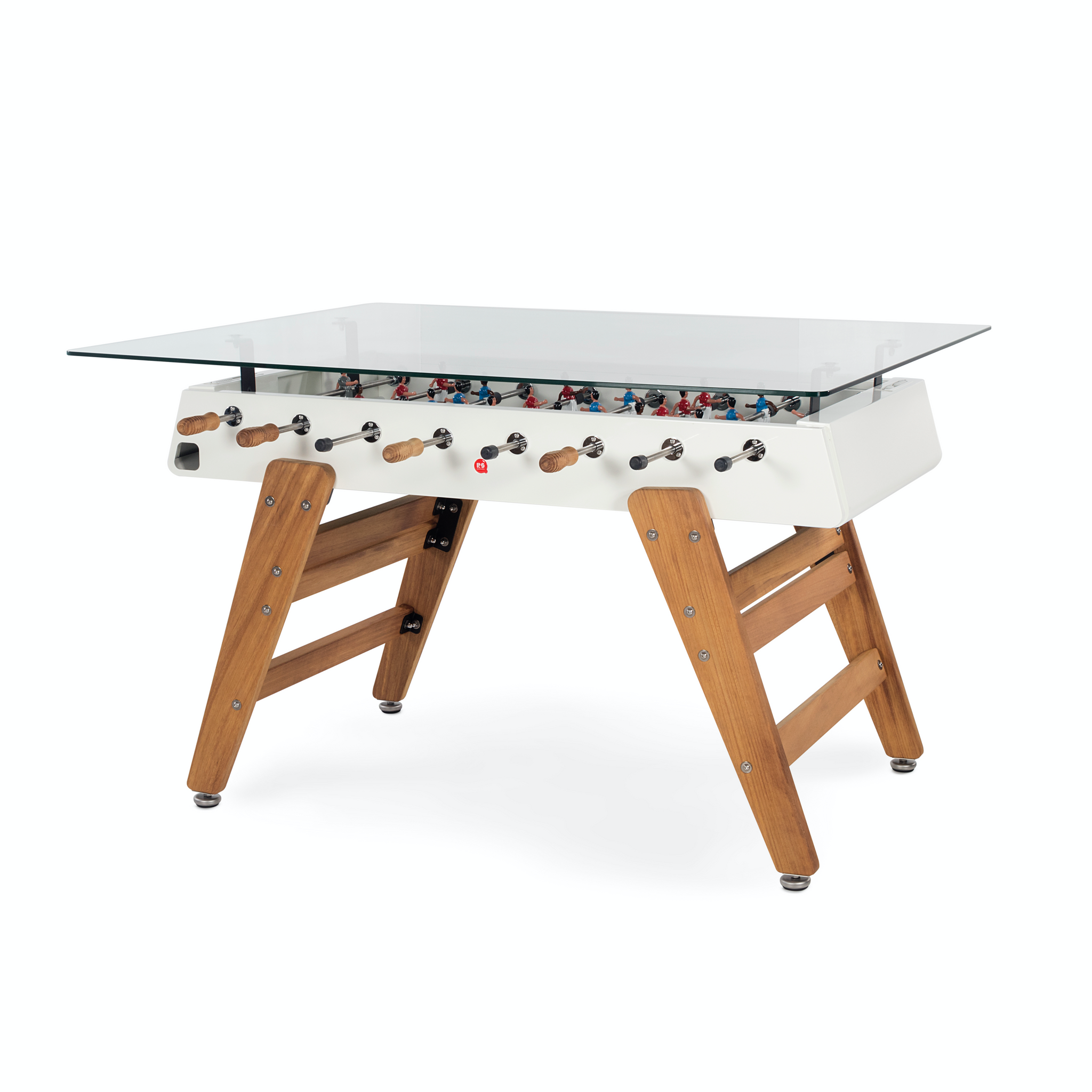 RS3 Wood Dining Rectangle Foosball Table in White