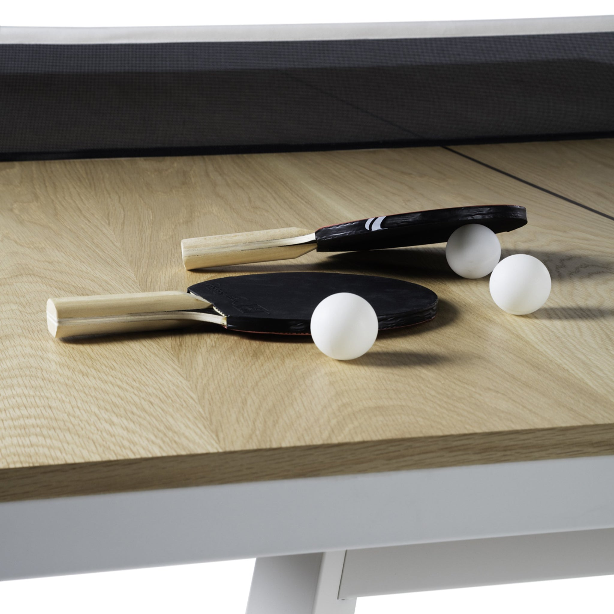 You and Me Tournament Size Table Tennis in Oak & White