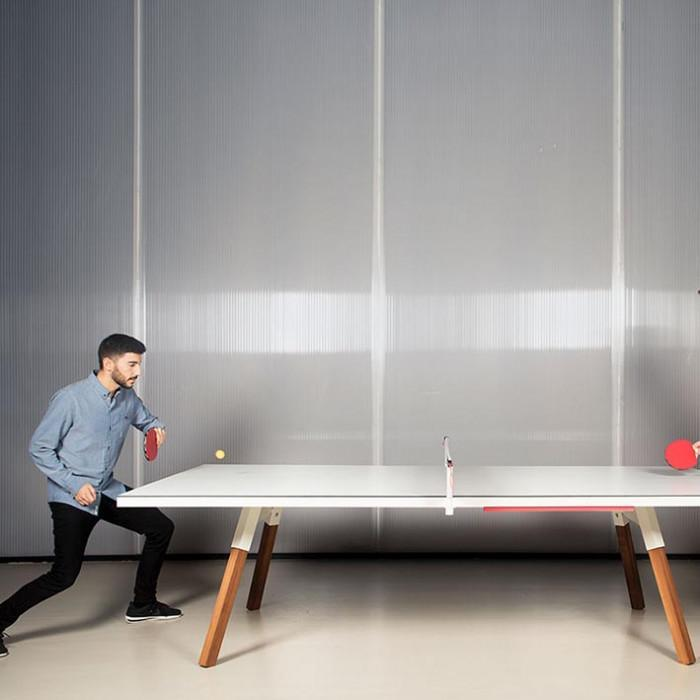 You and Me Tournament Size Table Tennis in Oak & Black
