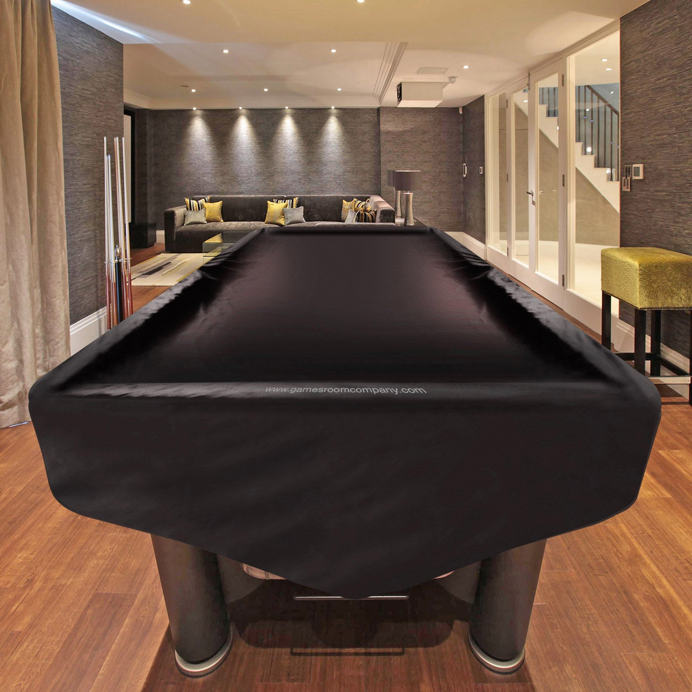 American pool table cover in black