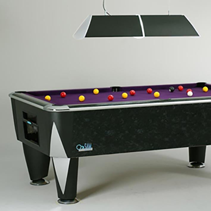 Sam Leisure Atlantic Champion English Pool Table Black Marble 6ft, 7ft