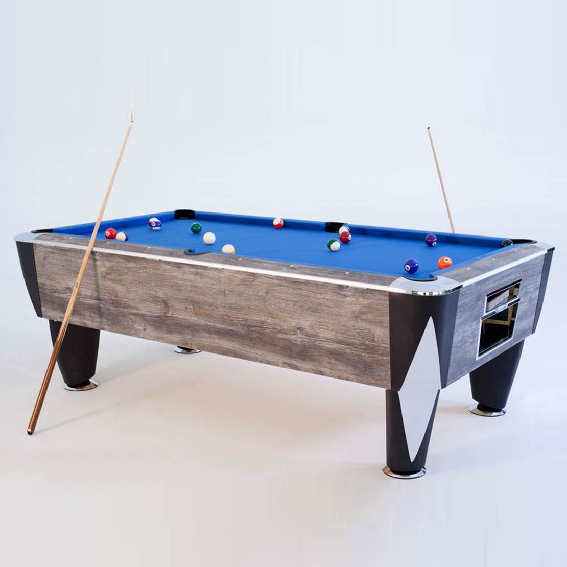 SAM Atlantic Champion English Pool Table (Blue Oak)