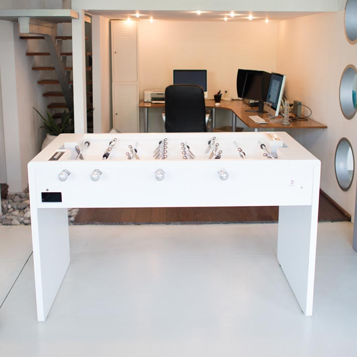 Debuchy T11 Foosball Table in white by Toulet