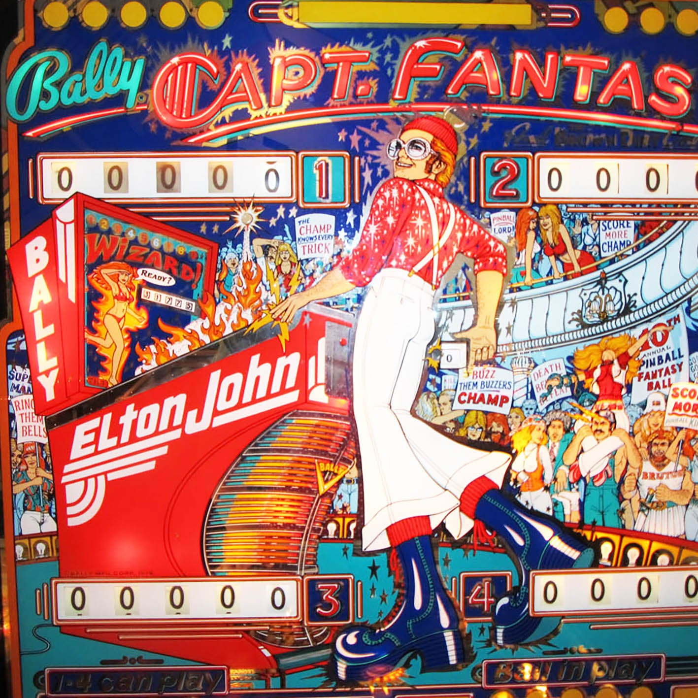 1976 Captain Fantastic Pinball Machine by Bally