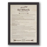 Bar Billiards Rules by Waldersmith