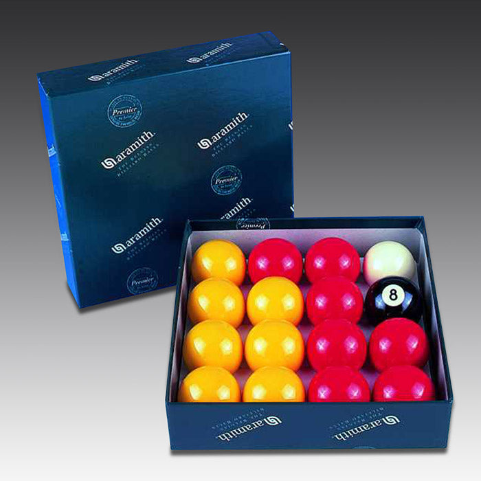 English Aramith Pool Balls Reds and Yellows