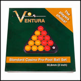 Ventrua Red & Yellow British/ English Pool Ball Set 2″