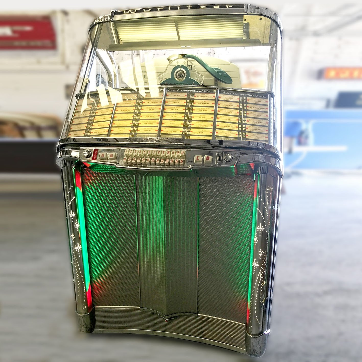 Original Wurlitzer 1900 Centennial Vinyl Jukebox