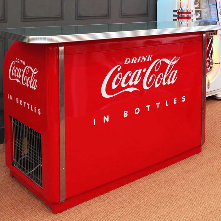 1950s Victor 2 Drawer Coca-Cola Bar 'Coming Soon'