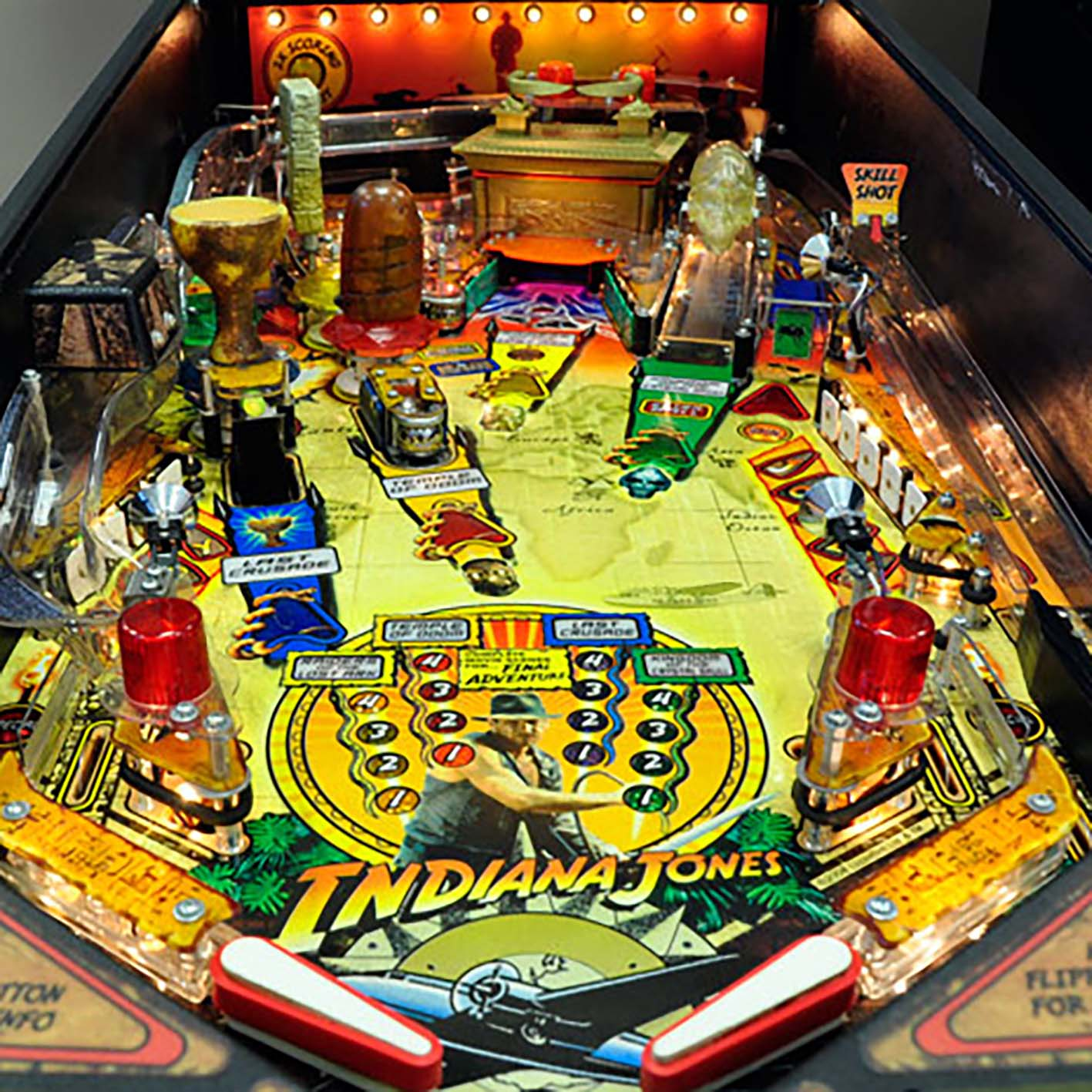 1982 Indiana Jones Pinball Machine by Stern