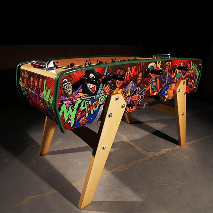 Sulpie 'Evolution' Foosball Table with hand painted cabinet