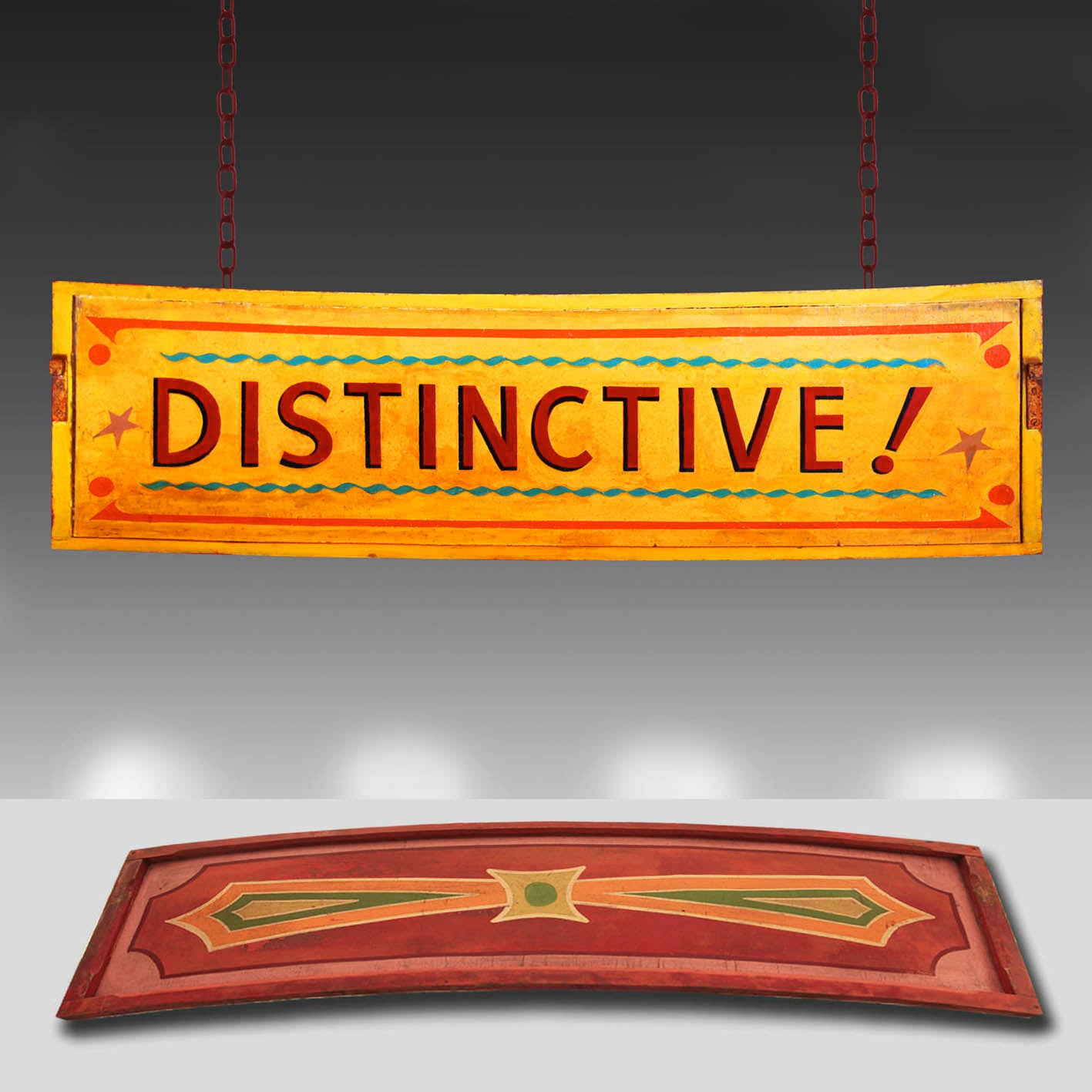 'Distinctive!' 1930's Vintage fairground sign