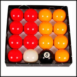 Ventura Red & Yellow English Pool Ball Set 2
