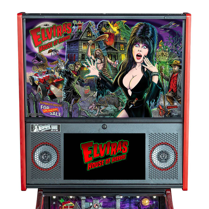 Elvira's House of Horrors Limited Edition Pinball Machine