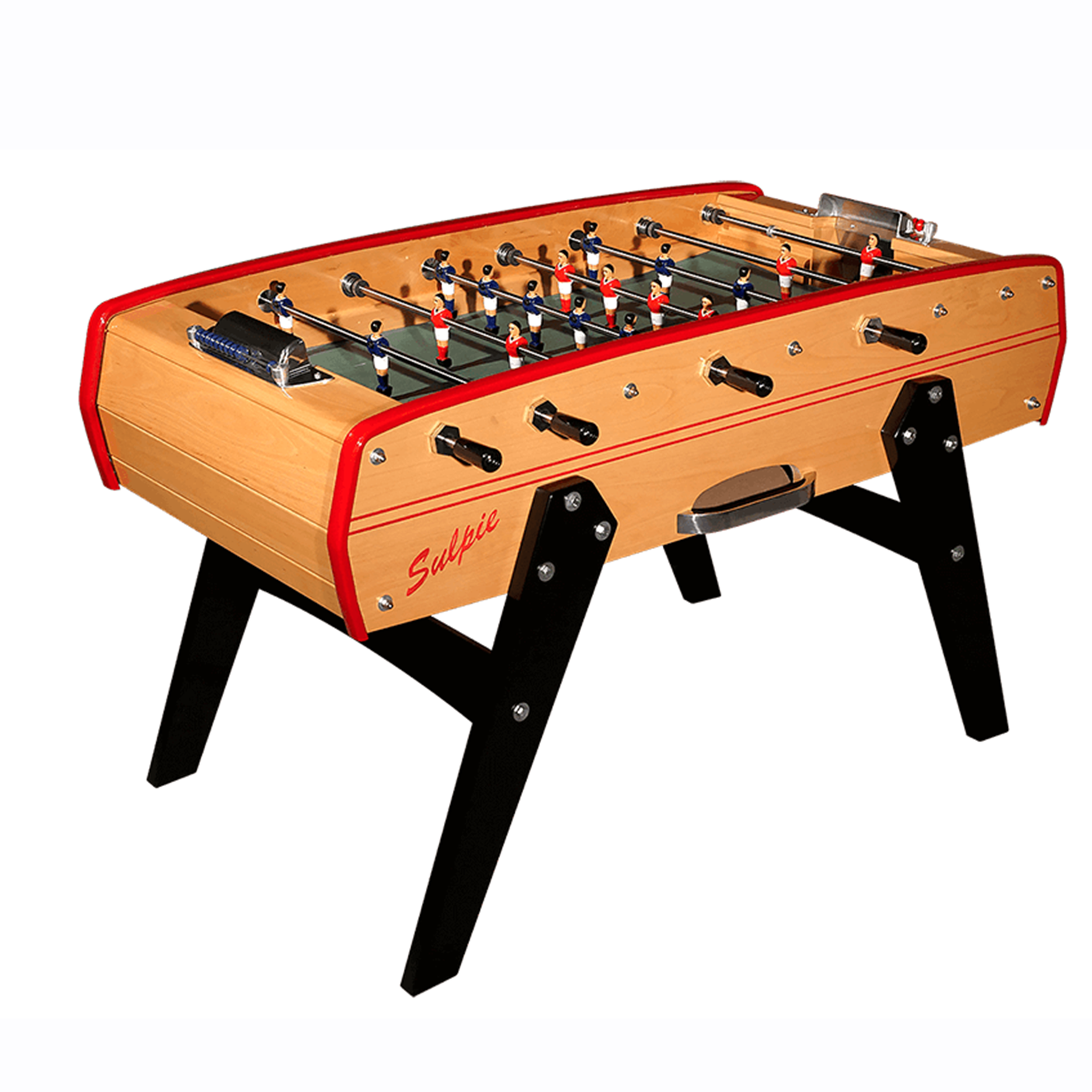 Sulpie Evolution Foosball Table with Red Trim