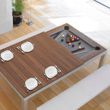 Aramith Fusion Pool Dining Table in Stainless Steel