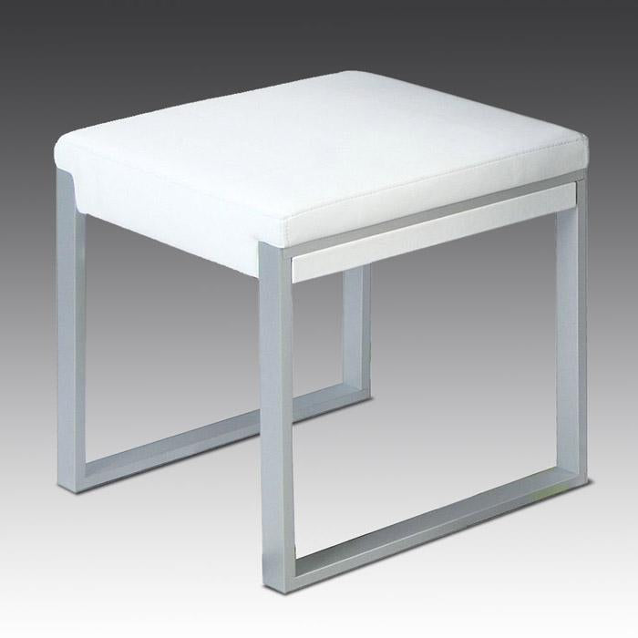 Fusion stool in white with grey frame