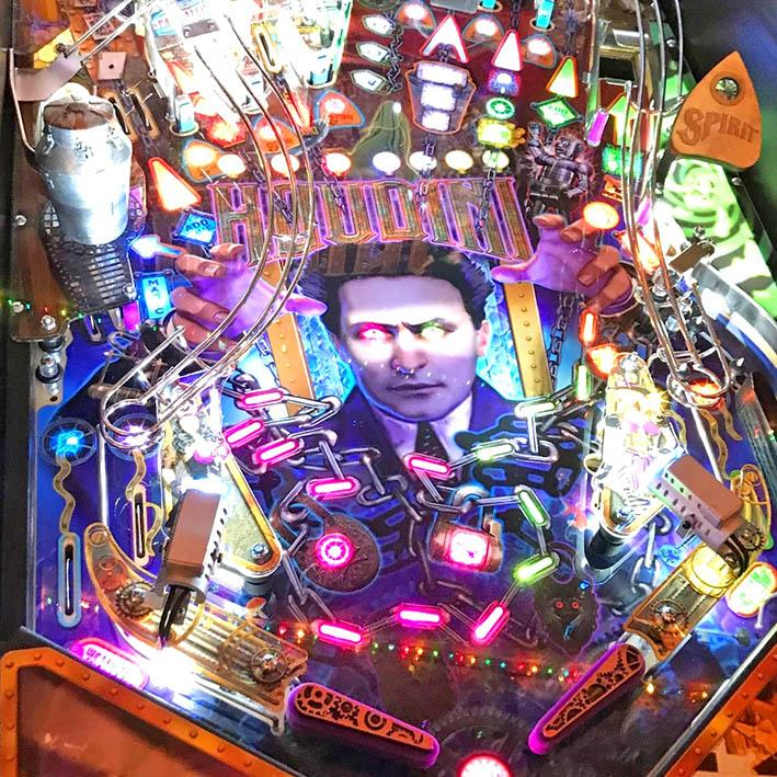 Houdini 'Master of Mystery' Pinball Table 'Exclusive to Games Room'