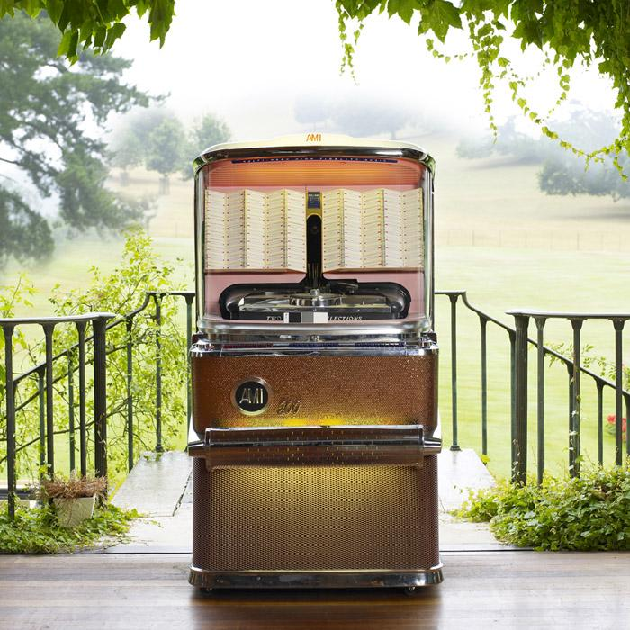 Original 1957 AMI H 200 Vinyl Jukebox 'Coming Soon'