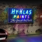 Vintage 1950's neon 'Hy-Klas Paints' sign