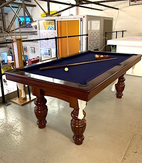 Stunning Mahogany Vintage English Pool Table  7ft Pre-owned