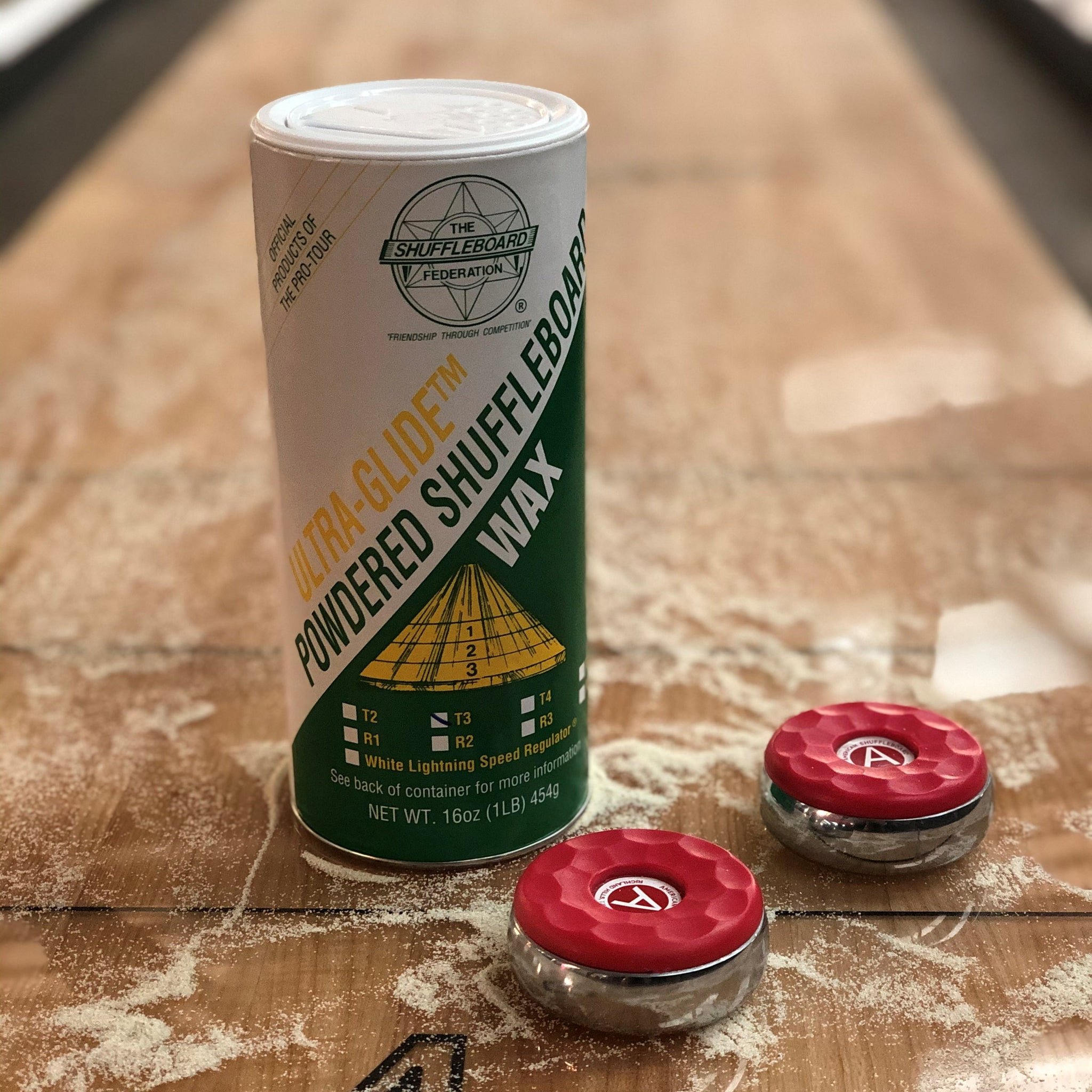 Shuffleboard Table Powder Wax Speed T3 - Faster