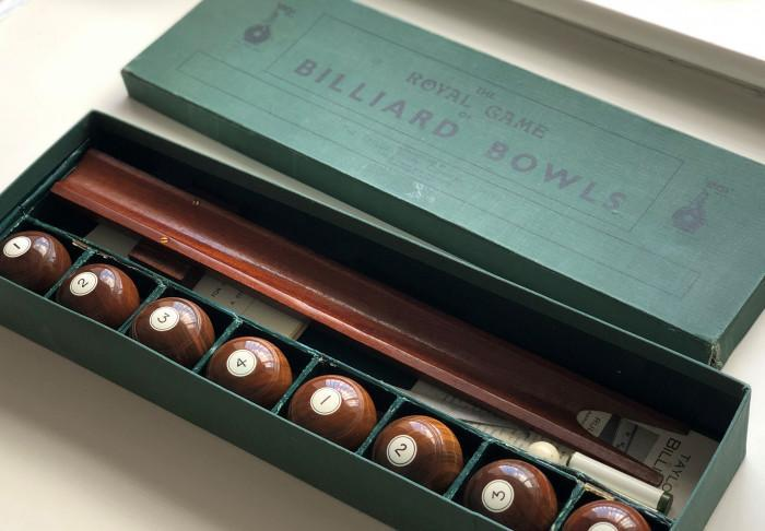 The Royal Games of Billiard Bowls manufactured by The Taylor-Rolph Company