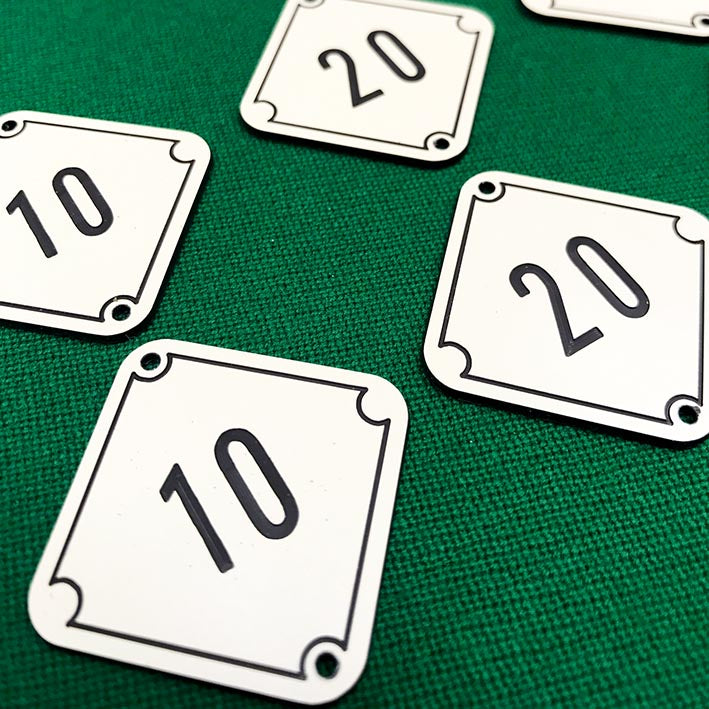 Bar Billiards Table Numbers Score Indicators 2.5cm