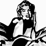 Marilyn Waterjet Cut 3D Metal Artwork