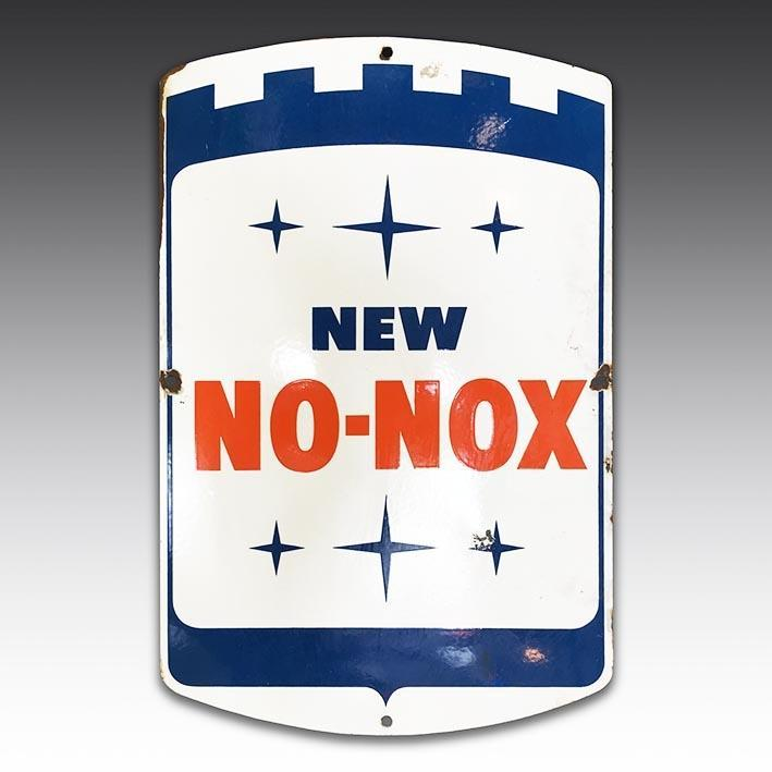 New No-Nox vintage enamel sign