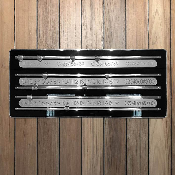 The Olympian Cue Rack and Scorer with Chrome and Brushed Steel Trim
