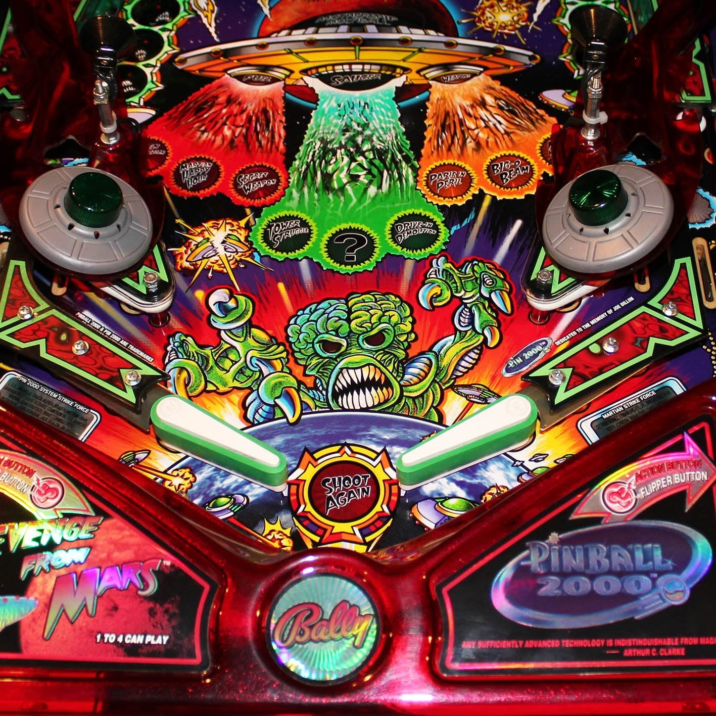 1999 Revenge From Mars Pinball Machine 'Coming Soon' by Bally