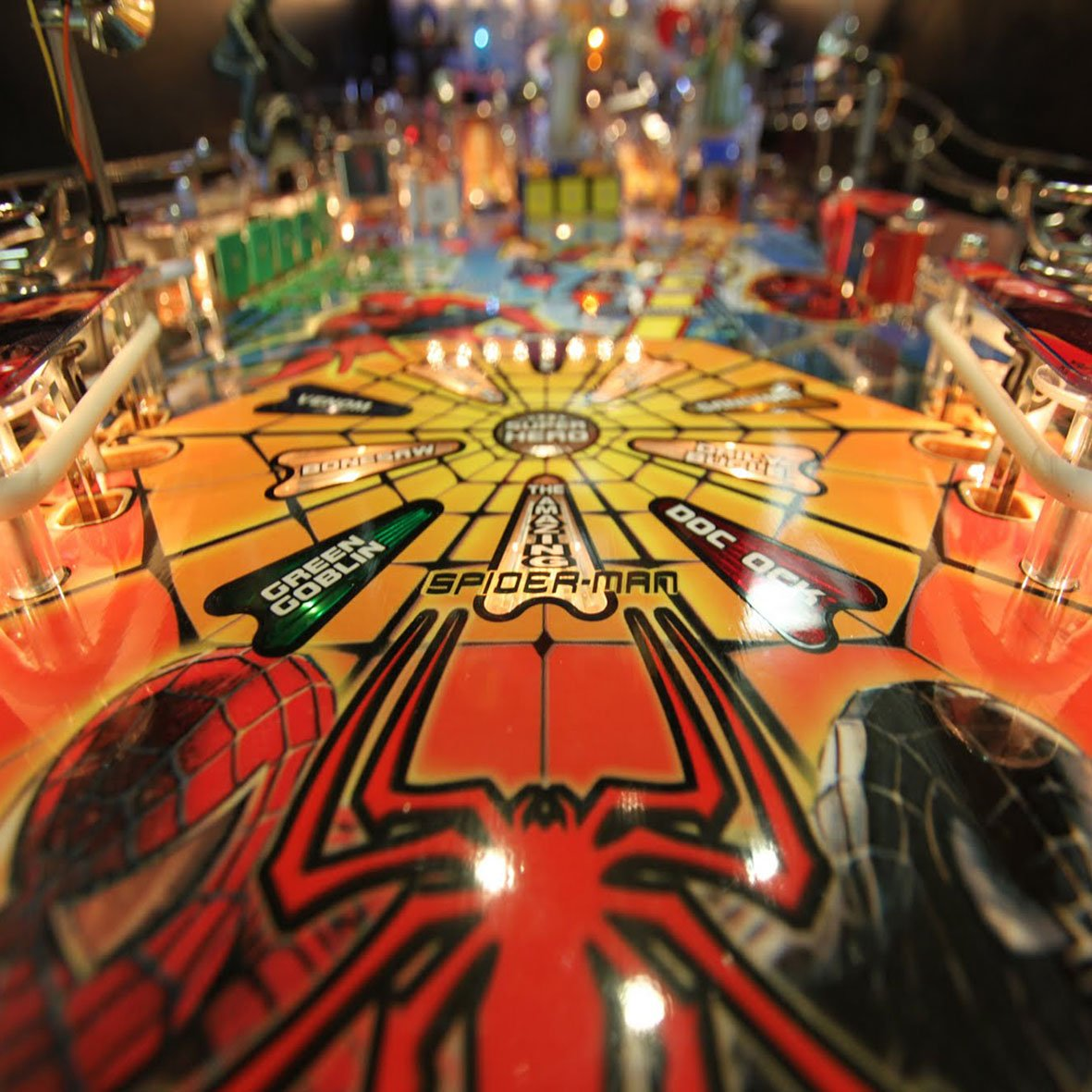 Spiderman Pinball Machine