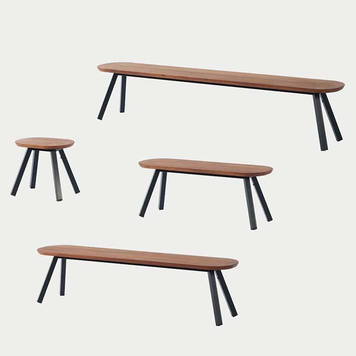 You and Me Outdoor/Indoor Bench Iroko