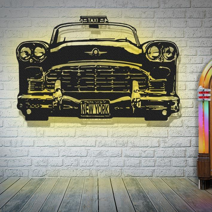'New York Taxi' Waterjet Cut Limited Edition steel 3D artwork