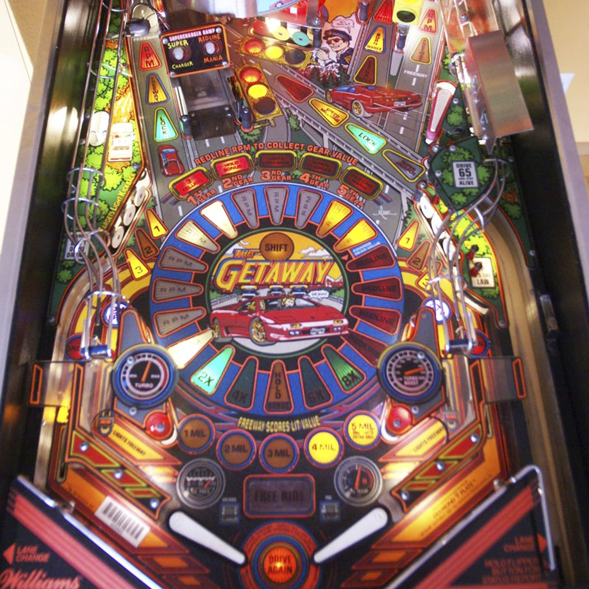 1990's The Getaway: High Speed II  Pinball Machine by Williams