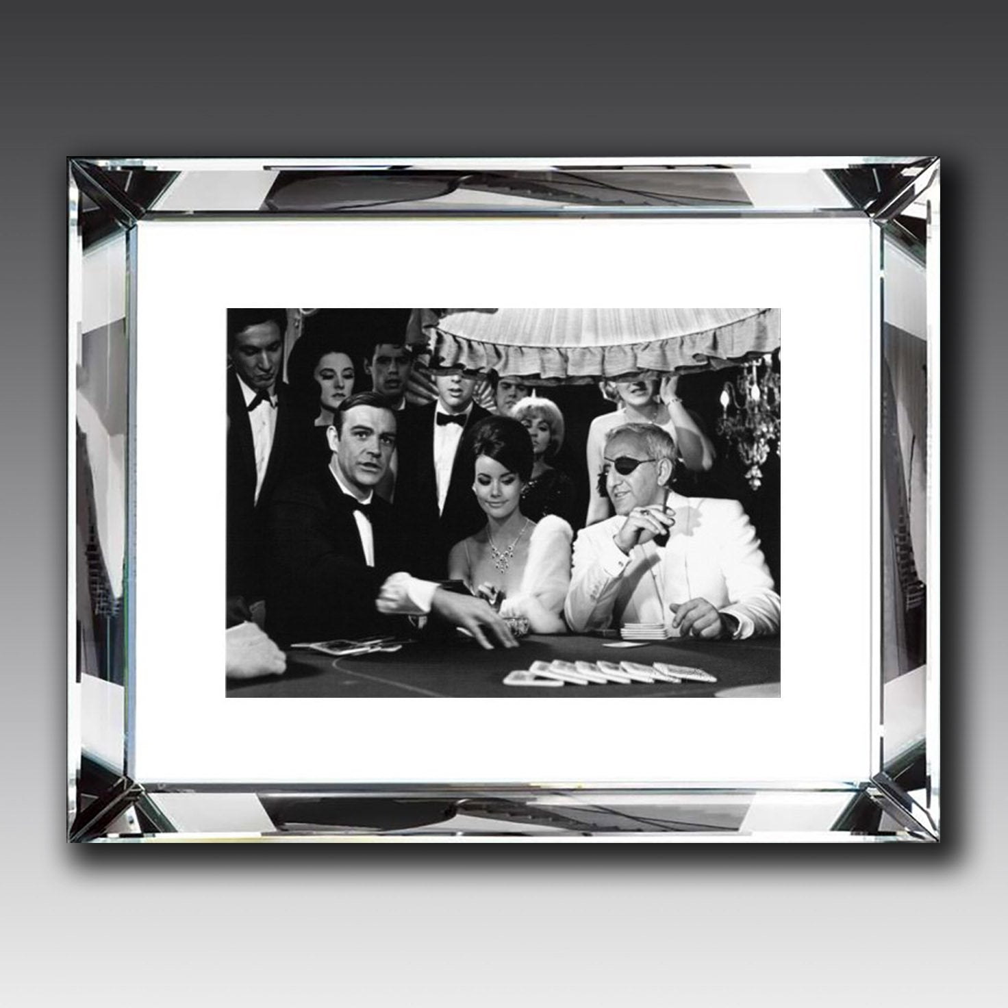 Thunderball casino, mirror framed picture