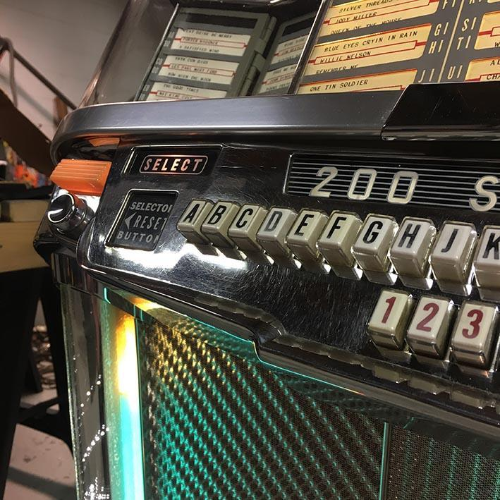 Original  Wurlitzer 2000 Centennial Vinyl Jukebox 'Coming Soon'