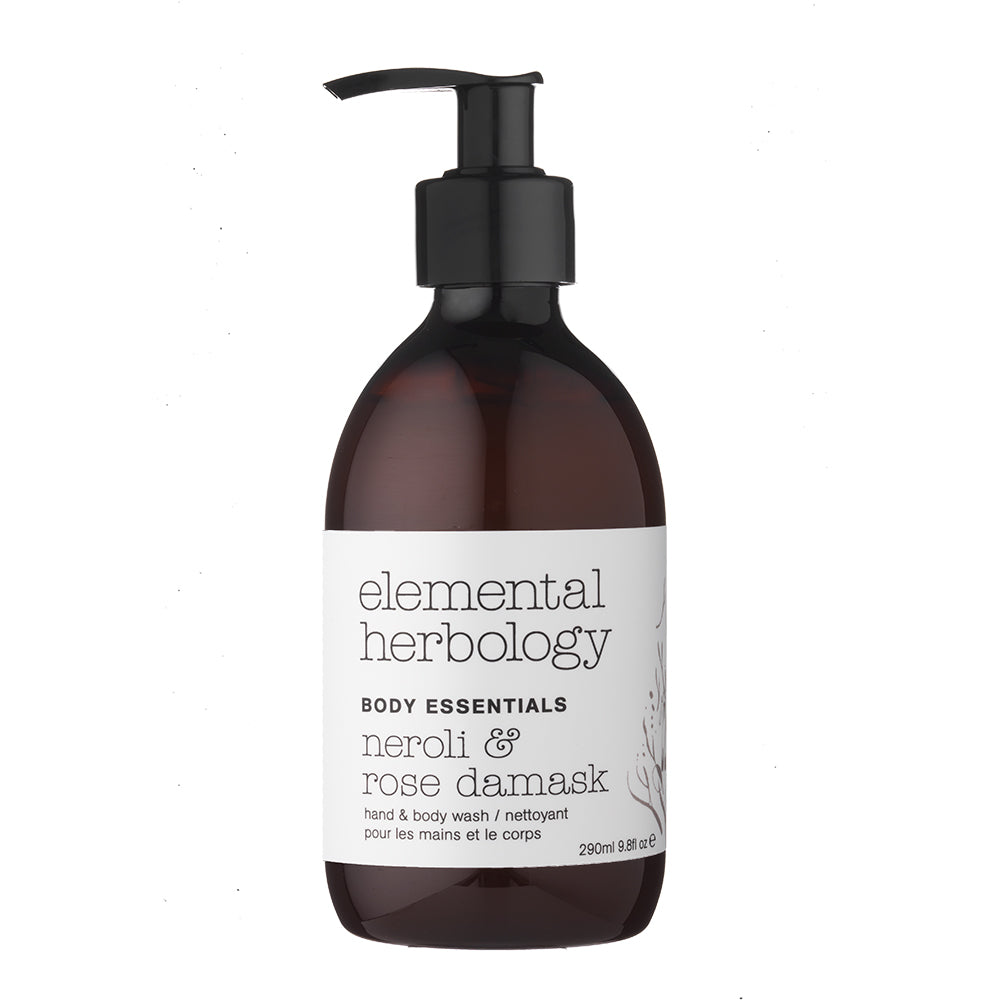 Elemental Herbology Neroli & Rose Damask Body Wash
