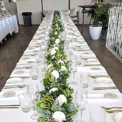 Greenfields Albert Park wedding flowers decorations