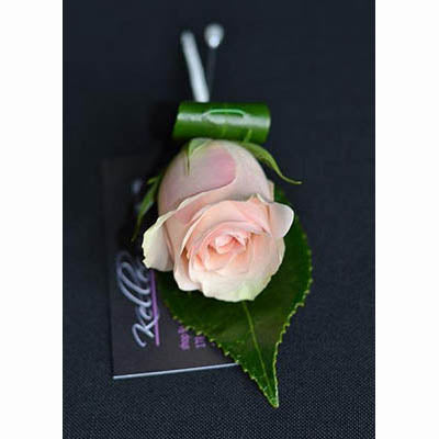 Oaks Day pink rose buttonhole