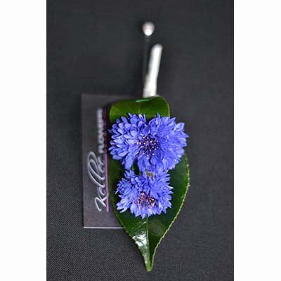 Victoria Derby blue cornflower buttonhole