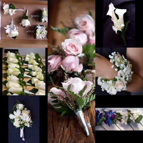 buttonhole bridal party corsage