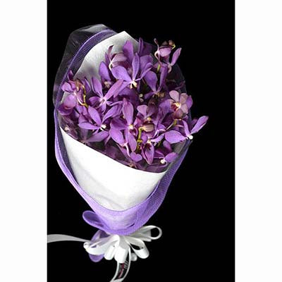 purple Singapore orchids bouquet
