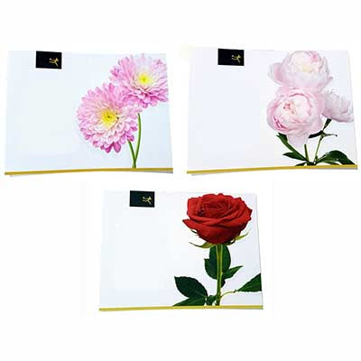 Greeting message cards floral image
